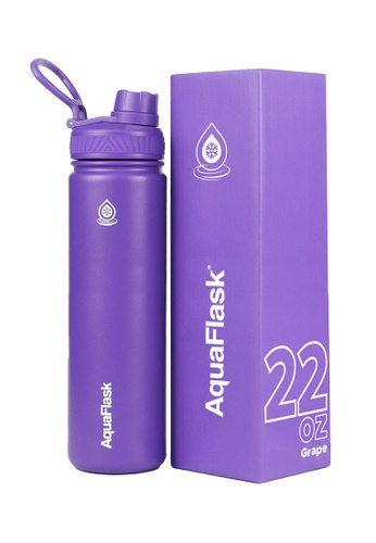 Aquaflask purple 22oz Wide Mouth Water Bottle 92FD7AC87E66C3GS_1