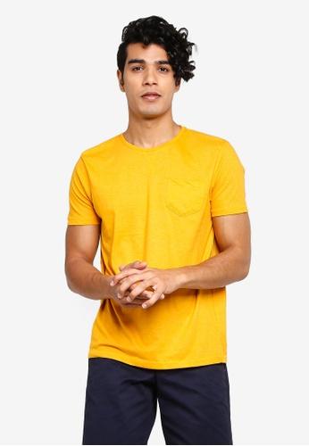 Brave Soul 金色 口袋T恤 ECF08AAF27C9AEGS_1