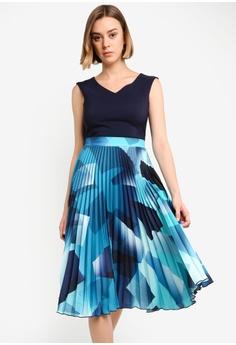 9354a2dd67001 CLOSET navy Pleated Skirt Dress DFAC1AAB28993CGS_1