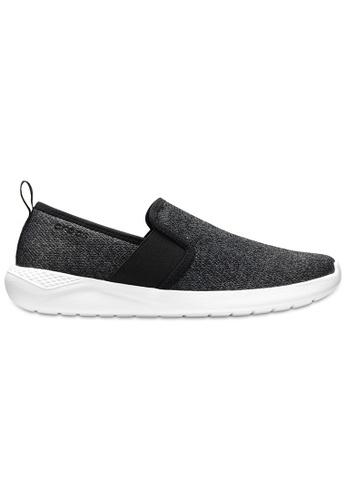 Crocs black Men's LiteRide™ Slip-On Blk/Whi 5F7E1SH28403BDGS_1