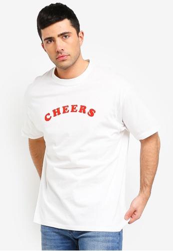 Cotton On 白色 Oversized 印花T恤 EAA01AA9FA2D82GS_1