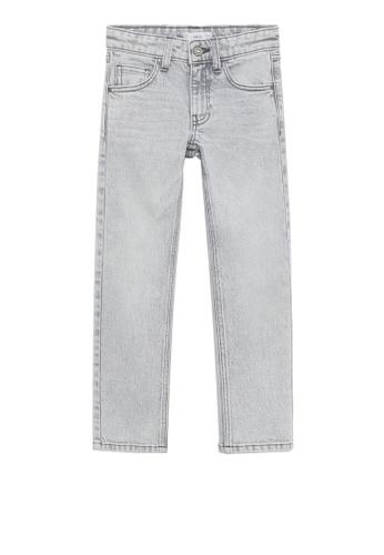 MANGO KIDS grey Slim-Fit Grey-Wash Jeans 737E7KA123B3BDGS_1