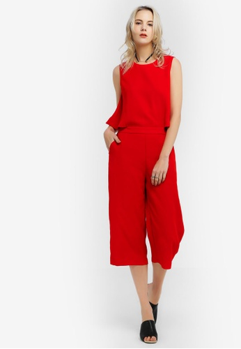 Hopeshow red Sleeveless 2 Piece Suit 8C068AA0DBCD5AGS_1