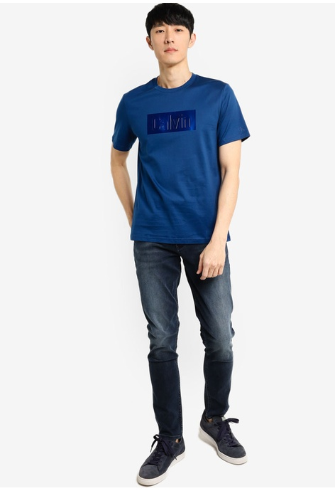 undefined Shiny Calvin SS Tee - Calvin Klein Jeans
