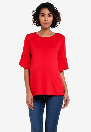 Dorothy Perkins red Maternity Double Layer Top DO816AA0RV44MY_1