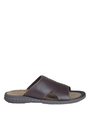 Hush Puppies Sandal Pria Elmar Mule - Dark Brown