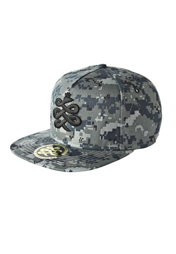 Chronomart blue Baem Korea Military Style Digital Pixel Camouflage Pattern Snapback Baseball Cap CH783AC96WXNPH_1