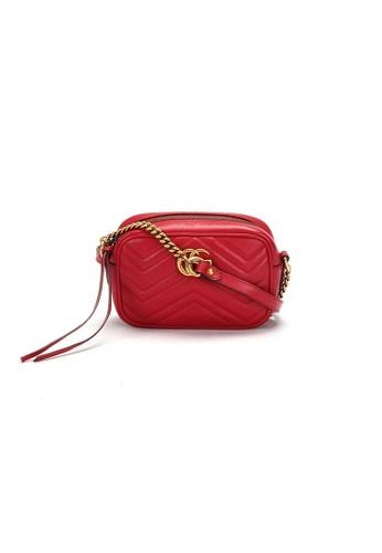 Gucci purple Pre-Loved gucci Gucci Gg Mermont Quilting Mini Bag in Red 7F914AC78DB85CGS_1