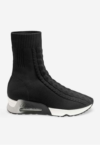 ASH black Liv - Black Mesh weaving High-Top Sneakers 7C84ESH6EE541FGS_1