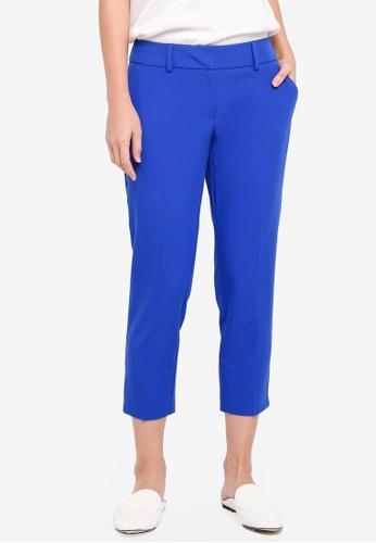 Dorothy Perkins blue Petite Cobalt Naples Ankle Grazer Trousers 1E1E6AAA29E5A4GS_1