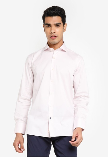 Sacoor Brothers pink Slim fit super comfort easy iron shirt 48831AA950A8AFGS_1
