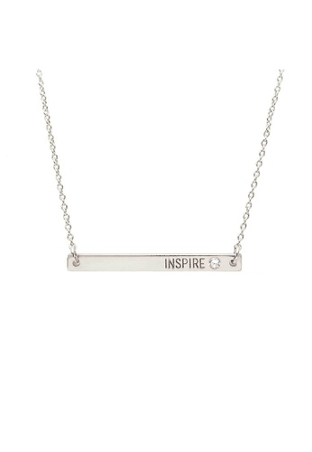 Kitsch silver Inspire Plate Necklace Silver 7F178AC1C228C6GS_1