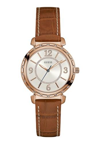 Guess Watch brown Guess Jam Tangan Wanita - Brown Rosegold - Leather Strap - W0833L1 96CD3ACB6D52C9GS_1