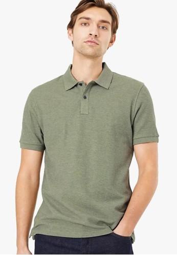 MARKS & SPENCER green Pure Cotton Polo Shirt F472BAA1A76AFFGS_1