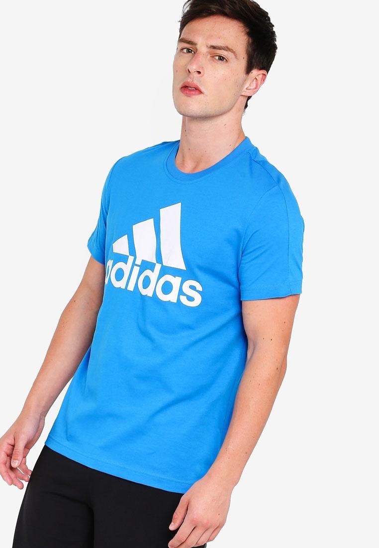 adidas ess linear Blue Bright White adidas tee qp4xFxf