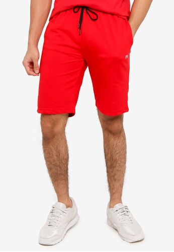 UniqTee red Jogging Style Shorts CCF41AAA896FA7GS_1