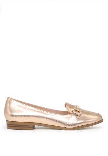 London Rag gold London Rag Berry Women's Rose Gold Synthetic Flat Ballets SH1632 7A917SHE5DA5ECGS_1