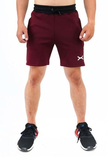 Flexzone red FLEXZONE Sports Short Pants Marathon Pro Series Maroon 03D31AA5462C21GS_1