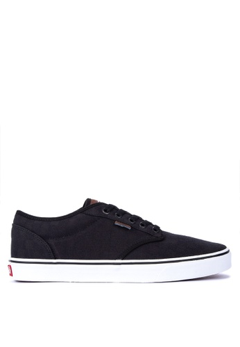 VANS black Check Jacquard Atwood Sneakers 82A66SH8361C03GS_1