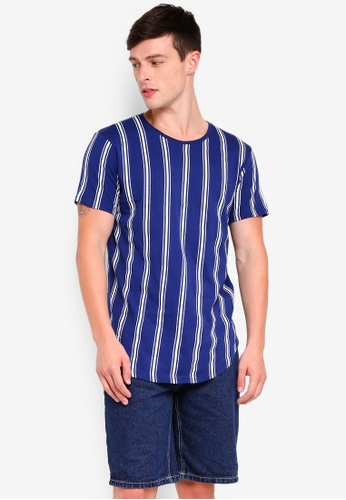 Factorie 多色 Curved Stripe T Shirt 88E18AABA47812GS_1