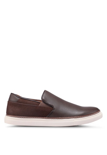 Bata brown Slide-On Sneakers EAB58SH244B1BBGS_1
