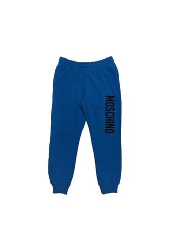 MOSCHINO BABY KID TEEN blue MOSCHINO KIDS LONG PANTS B59FDKA0D984BAGS_1