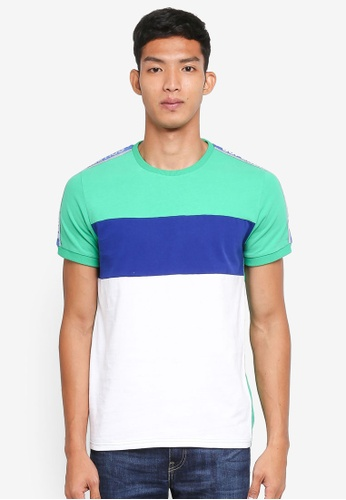 Superdry green Superdry Stadium Panel Tee D59D9AAEB024F6GS_1