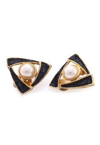 1901 Jewelry black 1901 Jewelry Triangle Pearl Clip 19910AC79DZSID_1