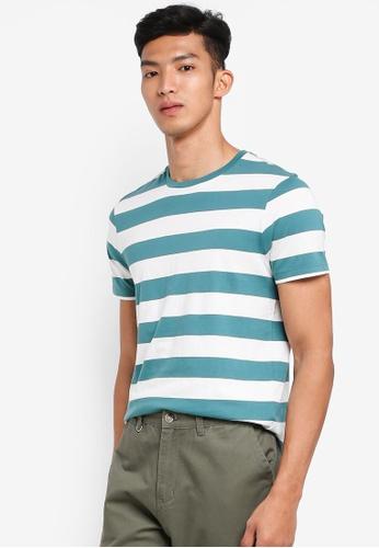 J.Crew 綠色 短袖條紋T恤 5136AAA455196EGS_1