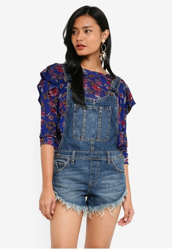 Free People blue Summer Babe Hi/Lo Overall CB144AAE2BF67BGS_1
