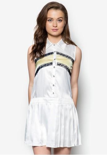 蕾絲拼色襯衫連身裙, 服zalora 男鞋 評價飾, 夏日洋裝