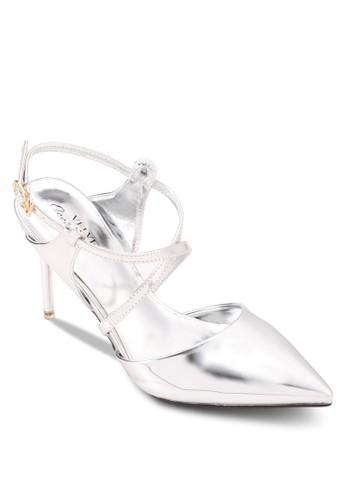 Occasion 金屬感交叉帶zalora時尚購物網評價細跟鞋, 女鞋, 細帶高跟鞋