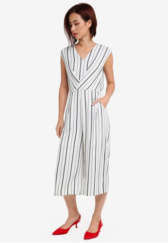 ZALORA white Wrap Front Jumpsuit 11B57AA1077BB6GS_1
