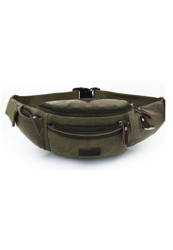Jackbox green Retro Design Large Capacity Shoulder Bag Waist Pouch Bag 707 (Army Green) JA762SE13NJUMY_1