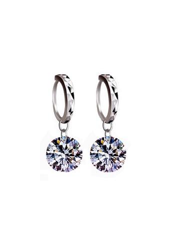 Elfi silver Elfi 925 Sterling Silver Vintage Sparkle Fashion Earring SE62 EL186AC0RWQZMY_1