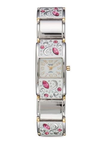 JES140esprit台北門市SG 閃鑽刻花鍊錶, 錶類, 不銹鋼錶帶