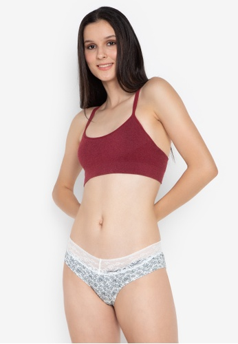 Women'Secret red Cotton Bra With Removable Cups And Double Straps 0F4FEUSD26D038GS_1