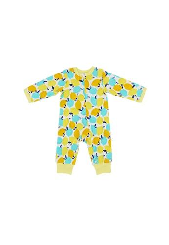 Baby Lovett yellow Cheery Lemons Two-Way Zipper Suit A23DDKA16249D6GS_1