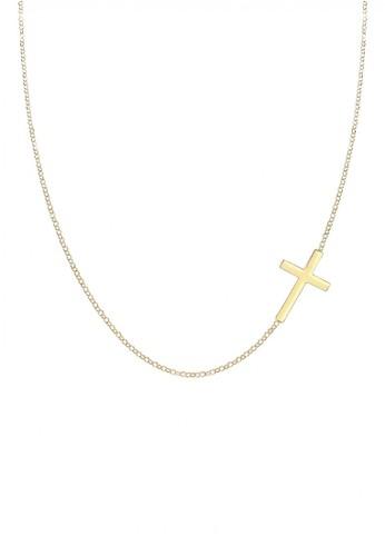 Elli Germany gold Perhiasan Wanita Perak Asli - Silver Kalung Salib Gold Plated 0D644AC886F33BGS_1