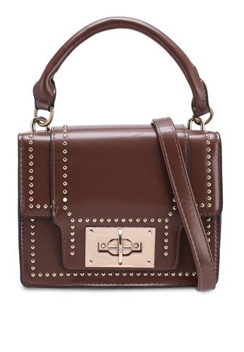Berrybenka brown Roana Decca Top Handle Bag ED3CDAC569BFA3GS_1