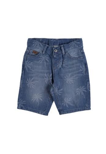 LC Waikiki blue Boy's Bermuda Denim Shorts 6C631KA4FA6E99GS_1