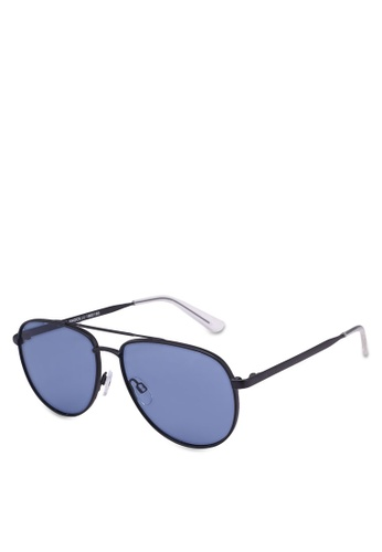 Le Specs blue Hard Knock Sunglasses FAF42GL6F0B8F8GS_1