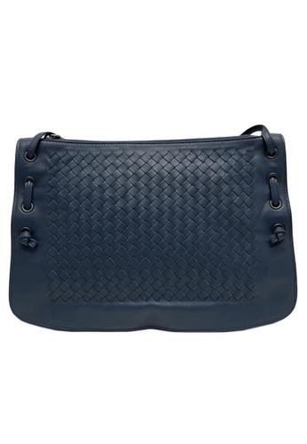 BOTTEGA VENETA blue Bottega Veneta Intrecciato Nappa Crossbody Bag in Blue B5A3EAC65F7D10GS_1