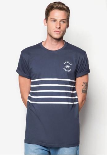 條紋徽章esprit outlet hong kong設計TEE, 服飾, 印圖T恤