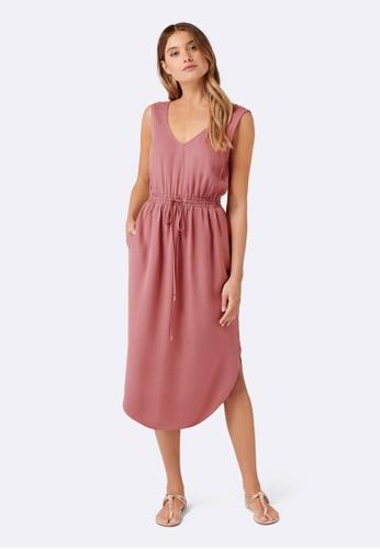 Forever New red Rachel Midi Dress 61821AA76E423BGS_1