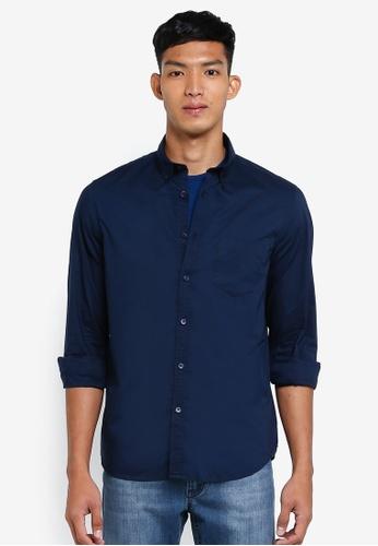 OVS 黑色 休閒長袖襯衫 357C3AAFD043F1GS_1