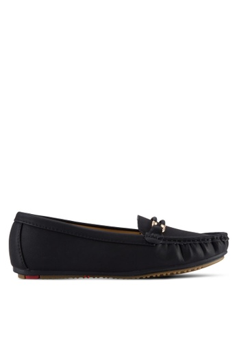 Noveni black Casual Loafers NO978SH74VTPMY_1