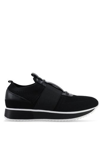 River Island 黑色 編織彈性運動鞋 37BADSH4750651GS_1