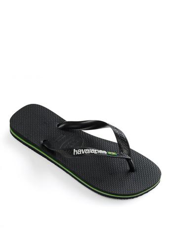 Havaianas black Havaianas Brasil Logo Flip Flops 8E844SH9FF033CGS_1