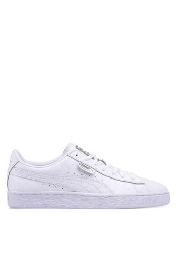 90ddb3cb75f78a Puma Select white Basket Ostrich Shoes 38ADCSHEB19C74GS 1